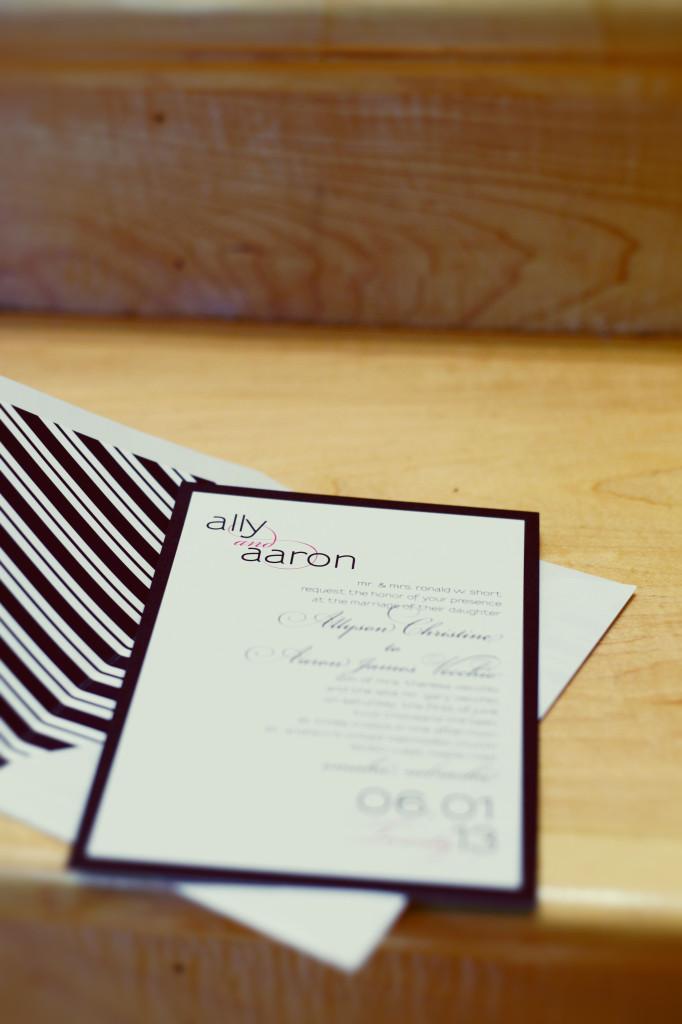 Ally + Aaron Wedding Invitation