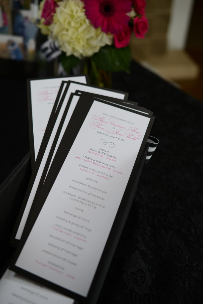 Ally + Aaron Wedding Programs