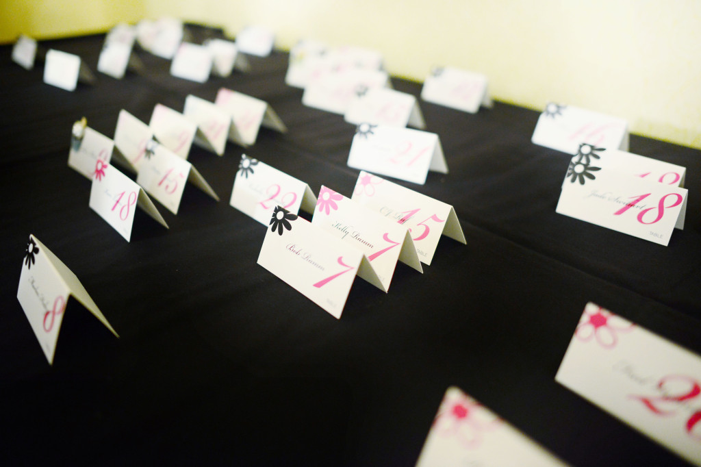 Ally + Aaron Table Place Cards