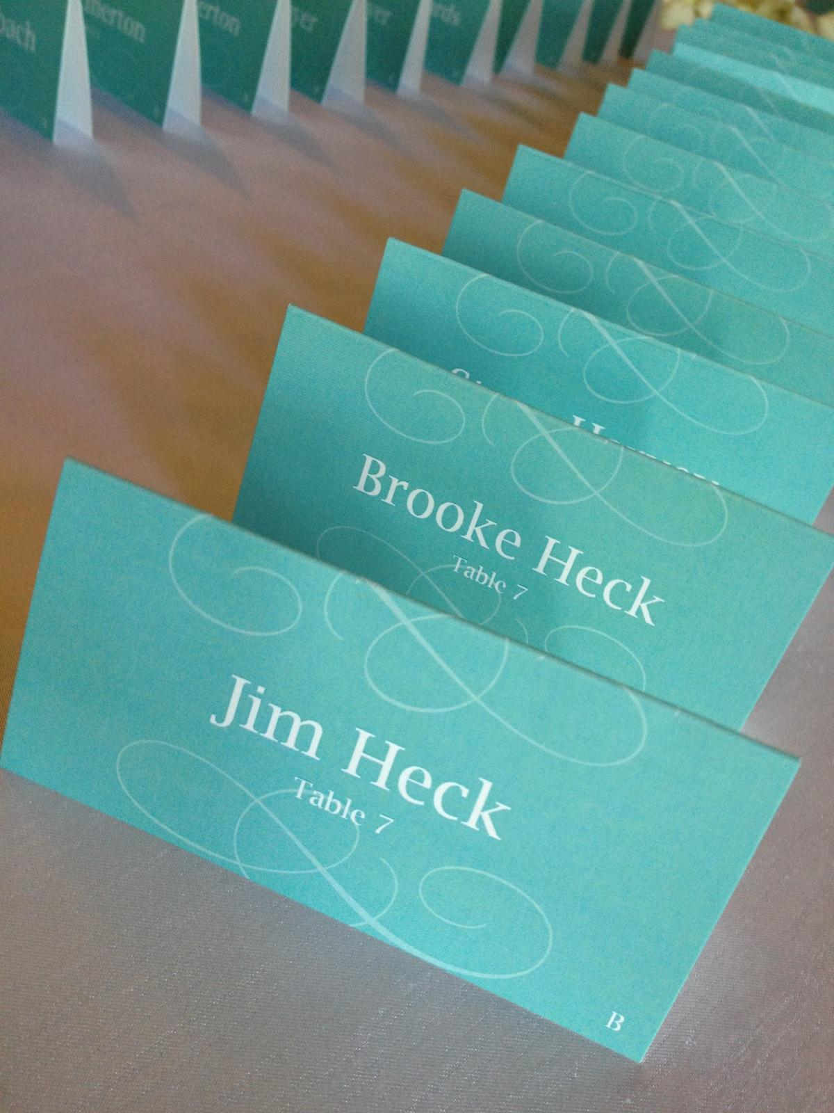 Kelly + John Place Cards