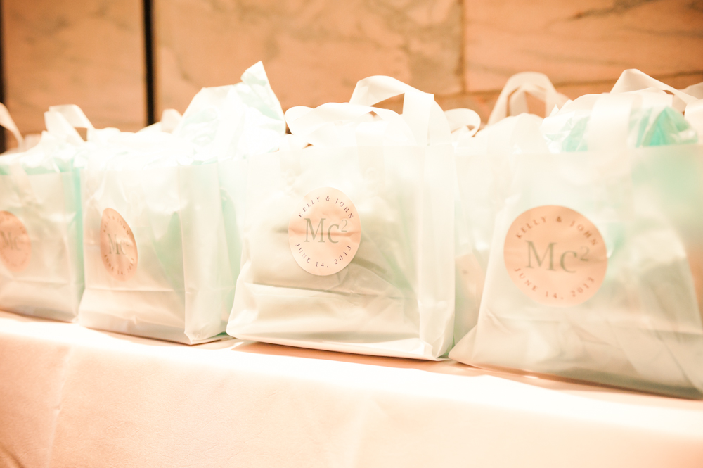 Kelly + John Guest Gift Bags with Custom Labels