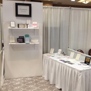 My trade show set up.  One wall this show due to the area.