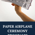 paper airplane wedding program, wedding ceremony programs, Dana Osborne Design, airplane programs