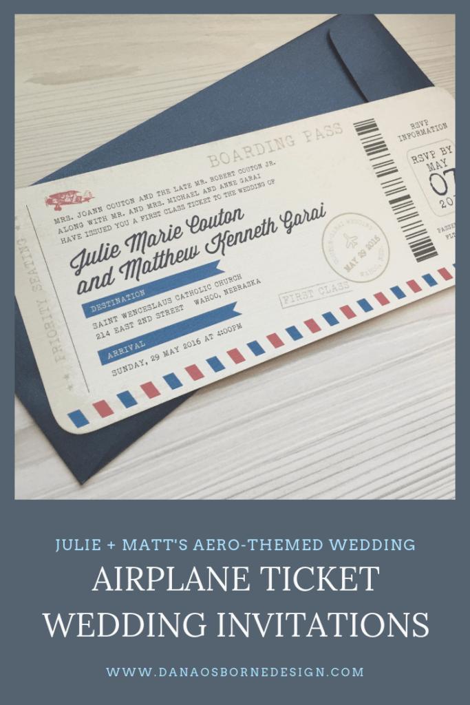 airplane ticket wedding invitations, ticket wedding invitations, boarding pass wedding invitations, vintage airplane wedding, airline wedding