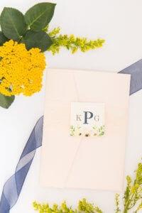 floral pocket wedding invitations lace