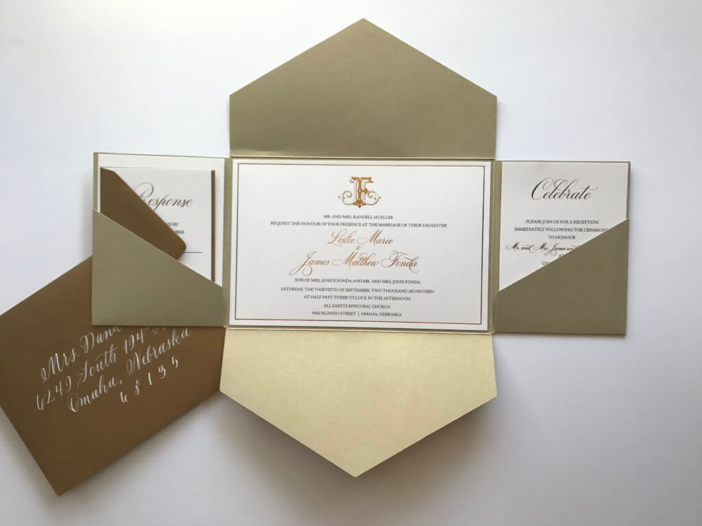 gold wedding invitations Archives | Dana Osborne Design