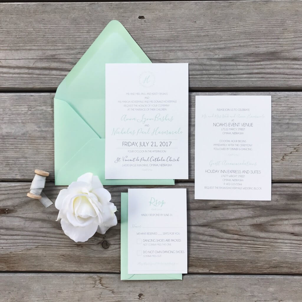 Mint and Modern Rustic: Nick & Anna\'s wedding at Noah\'s Event Venue ...