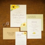 wedding invitation sunflower omaha nebraska dana osborne design