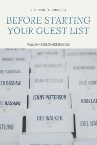 Wedding Guest List, guest list, Dana Osborne Design, wedding invitations, custom wedding invitation, invitation designer