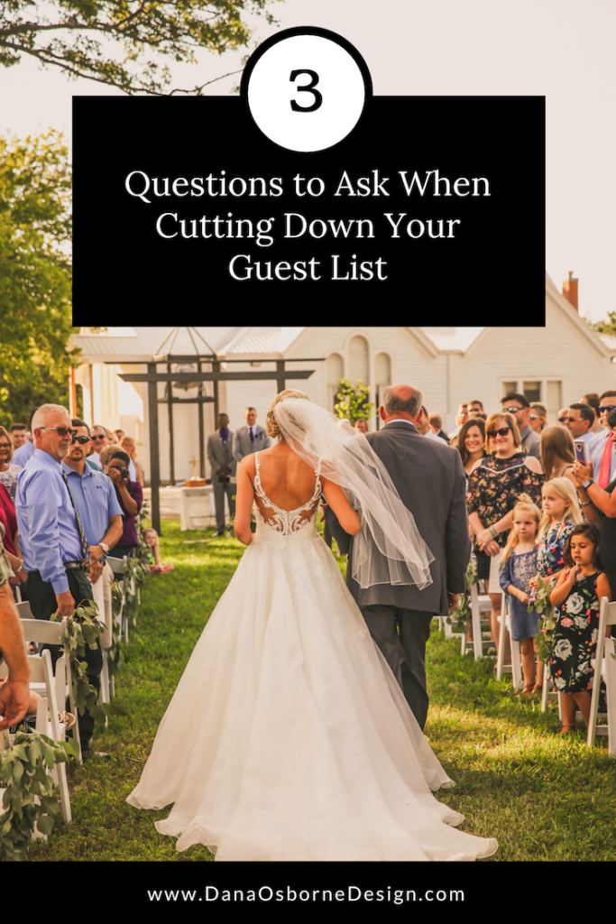 Cut Down Guest List Dana Osborne Design