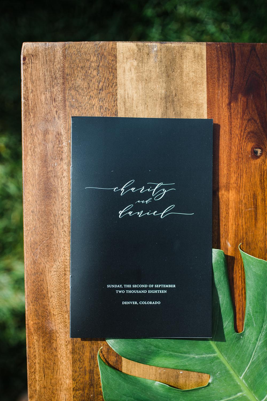 Booklet Ceremony Program Jewish Wedding Dana Osborne Design