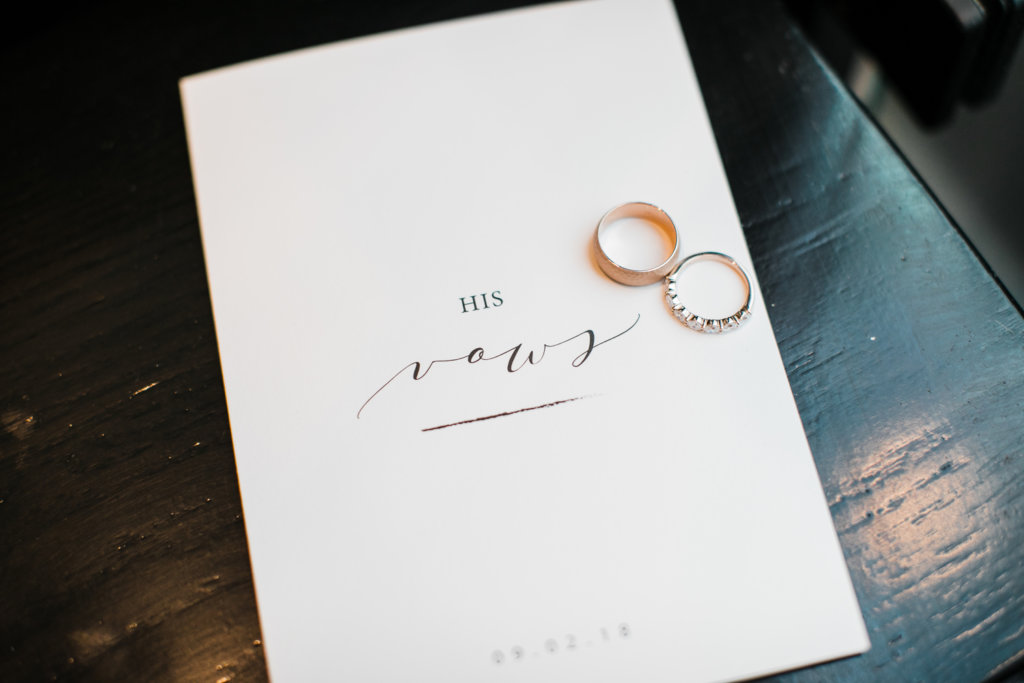 His Hers Vows Booklet Dana Osborne Design