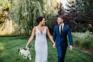 couple married happy colorado wedding invitations