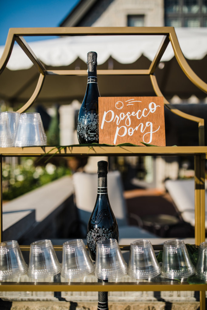 Prosecco Pong Sign Outdoor Wedding Game Dana Osborne Design
