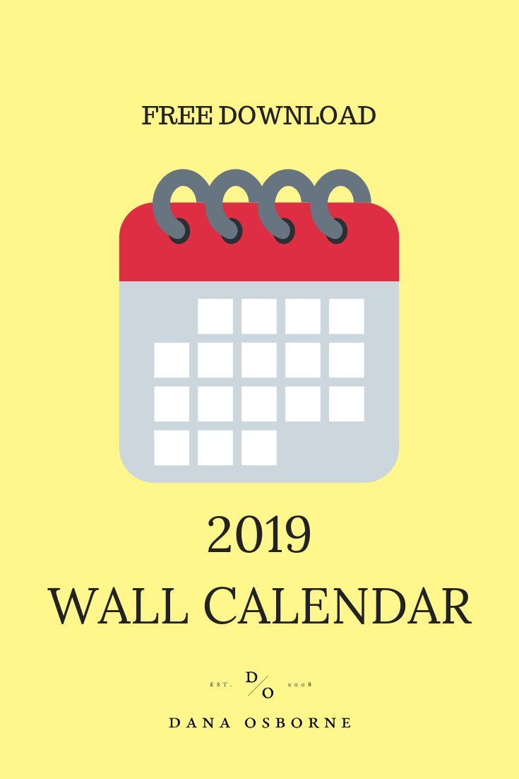 free calendar, wall calendar, 2019 wall calendar, free download