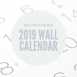 Free Downloadable wall calendar