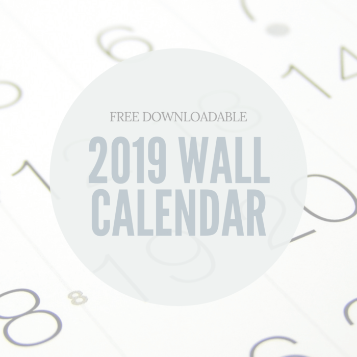 Free Downloadable wall calendar