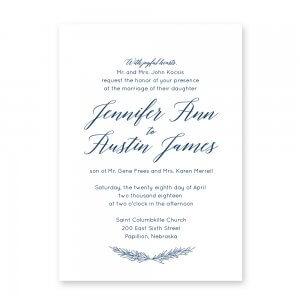 calligraphy inspired wedding invitation, affordable wedding invitation, omaha, Nebraska