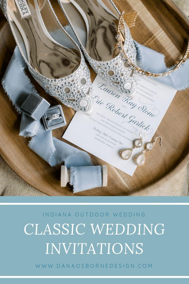classic wedding invitations, invites, indiana, newburgh, light, airy