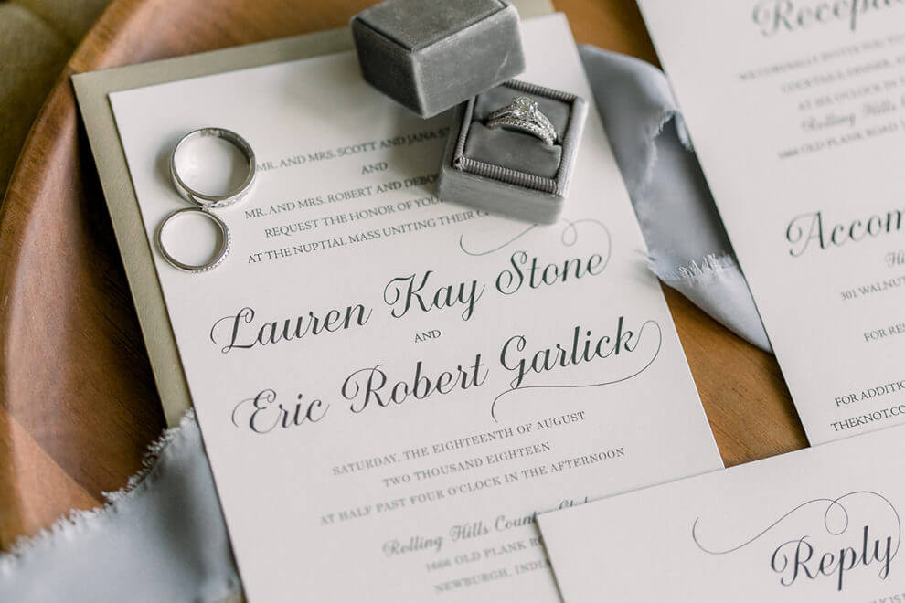 Outdoor Indiana Wedding Classic Invitations