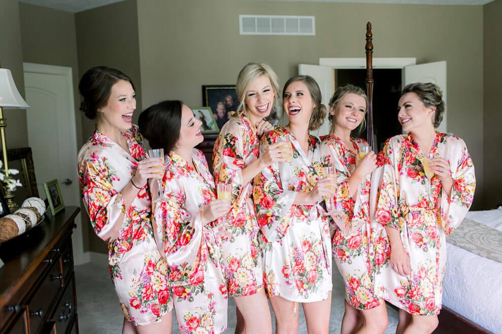 indiana wedding bridesmaids robes