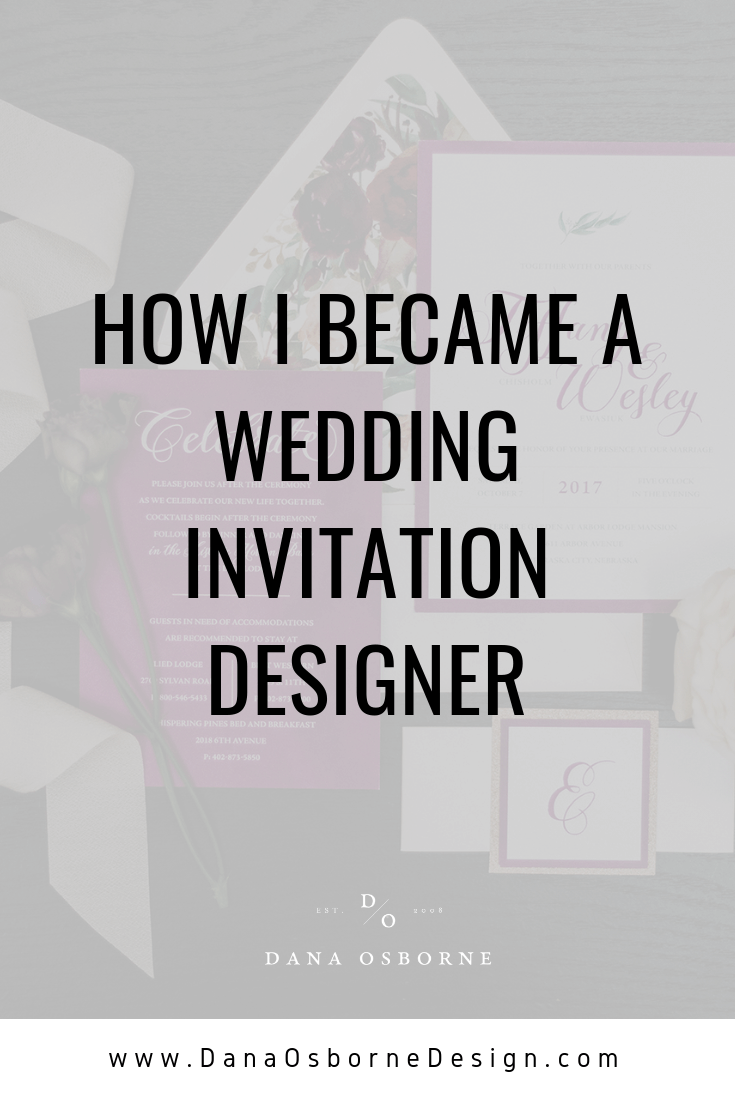 invitation designer, freelance graphic design, dana Osborne design, Omaha, midwest, graphic designer