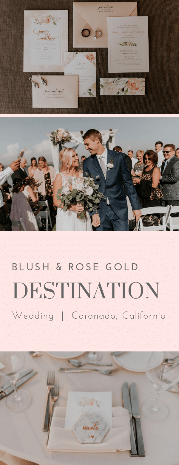 blush, rose gold, floral, wedding invitations, Dana Osborne design, Omaha, midwest, affordable