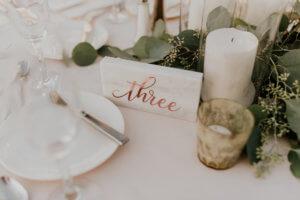marble table number rose gold dana osborne design