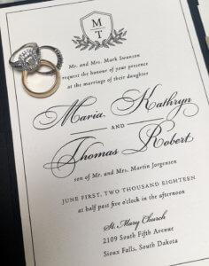 classic black white wedding monogram dana osborne design