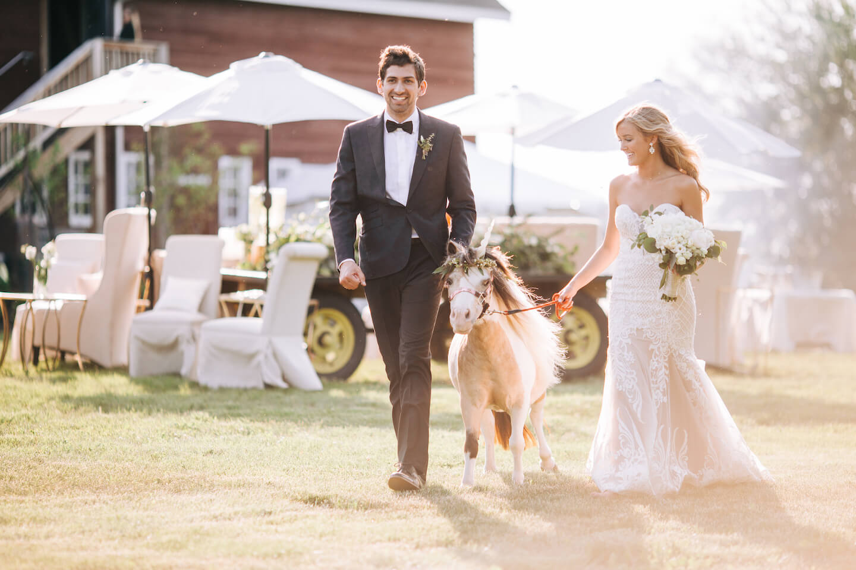 Pony Unicorn Wedding Nebraska Barn Dana Osborne Design