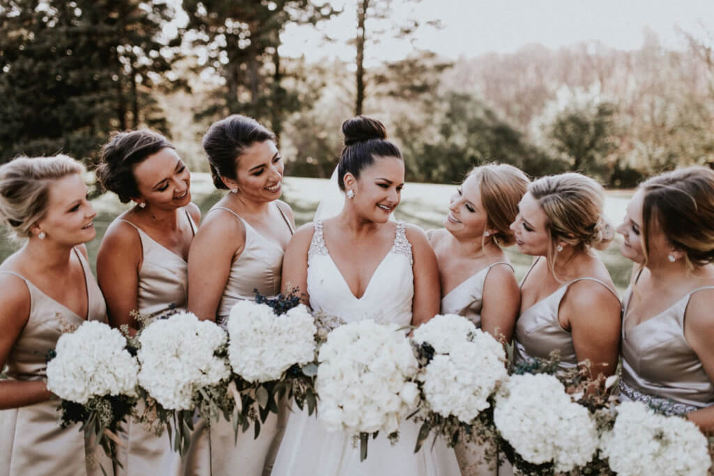 Neutral Wedding Bridesmaids Dana Osborne Design