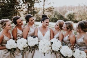 Neutral Wedding Bridesmaids Dana Osborne Design