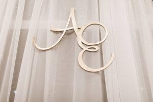 wood monogram gold omaha, nebraska dana osborne design