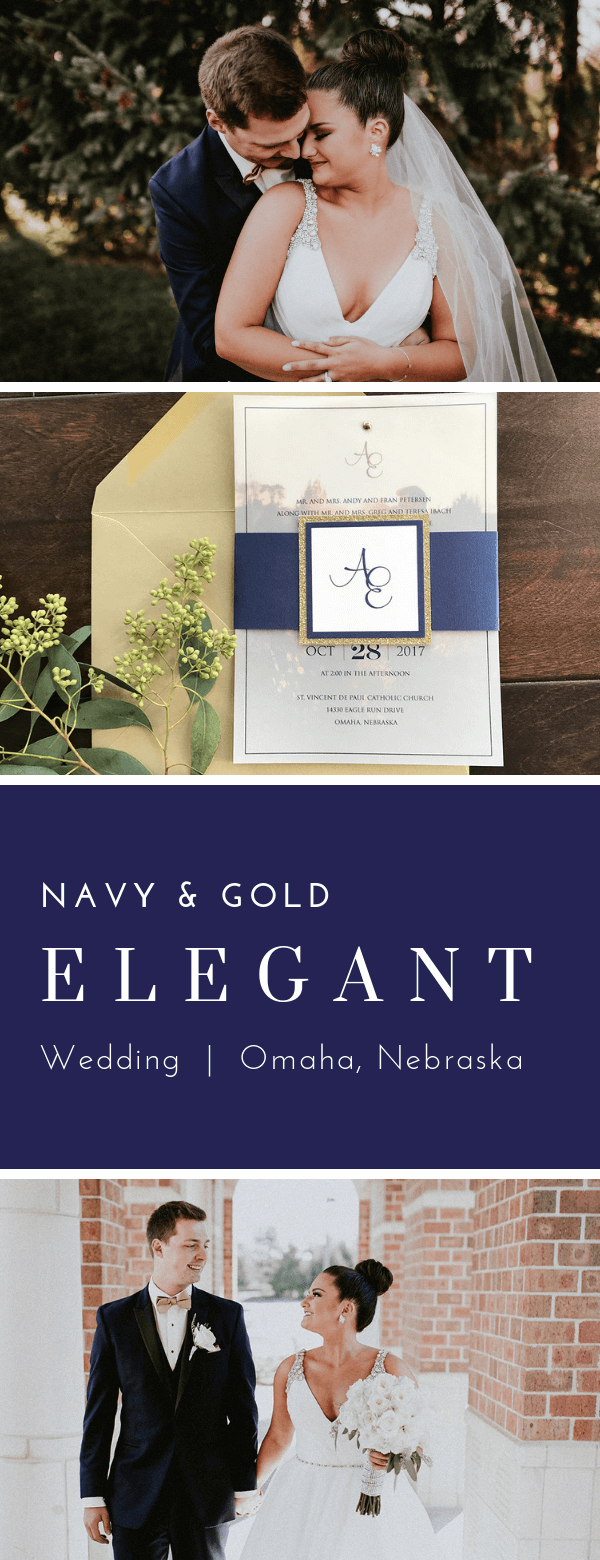 monogram, navy, gold, downtown Omaha, vellum overlay, dana Osborne design, Omaha, midwest, affordable