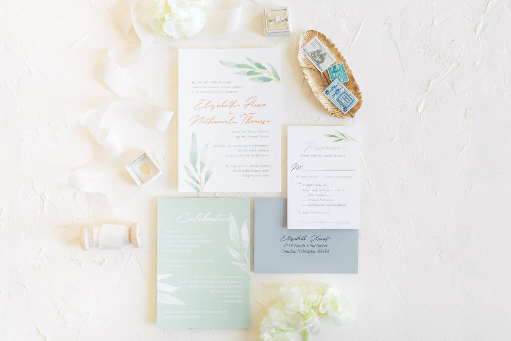 dana osborne design custom wedding invitations midwest