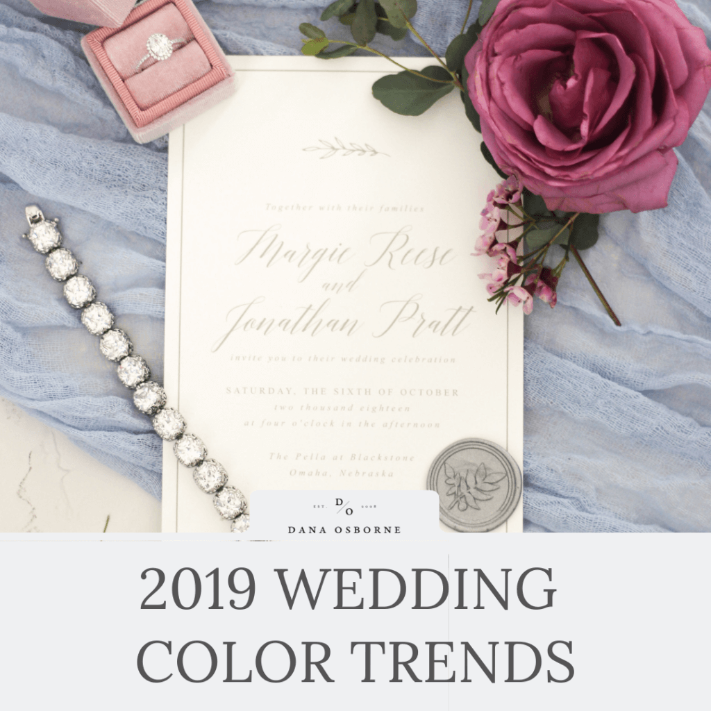 2019 Wedding Color Trends
