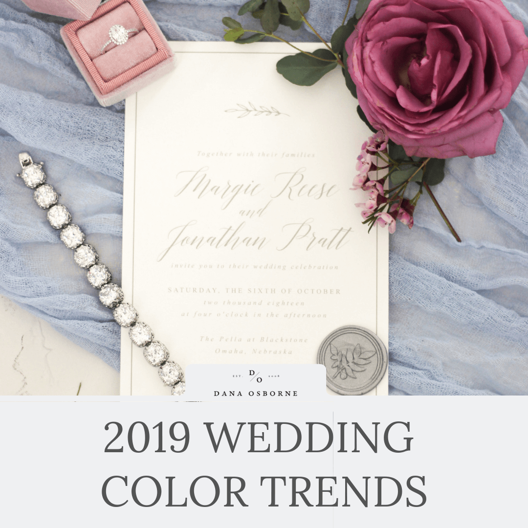 2019 Wedding Color Trends