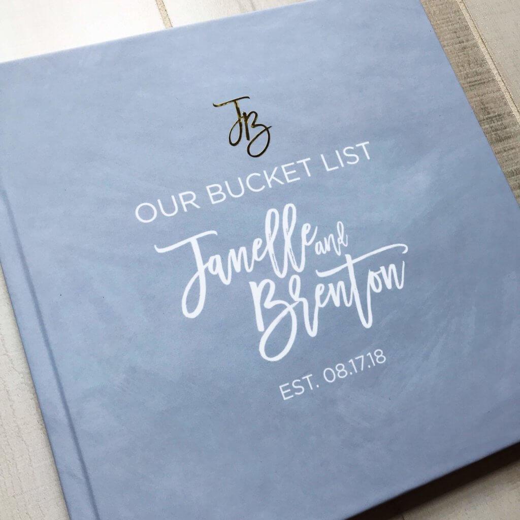 Bucket List Book Wedding Guest Book Dana Osborne Design