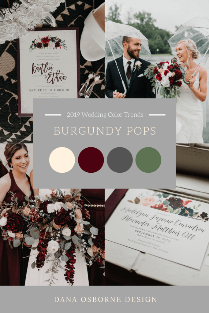 Burgundy Wine Wedding Color 2019 Trend Dana Osborne Design