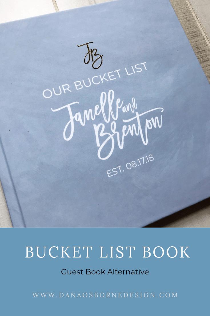 Bucket List Book.  Great alternative to a Wedding Guest Book.  Guest Book Idea