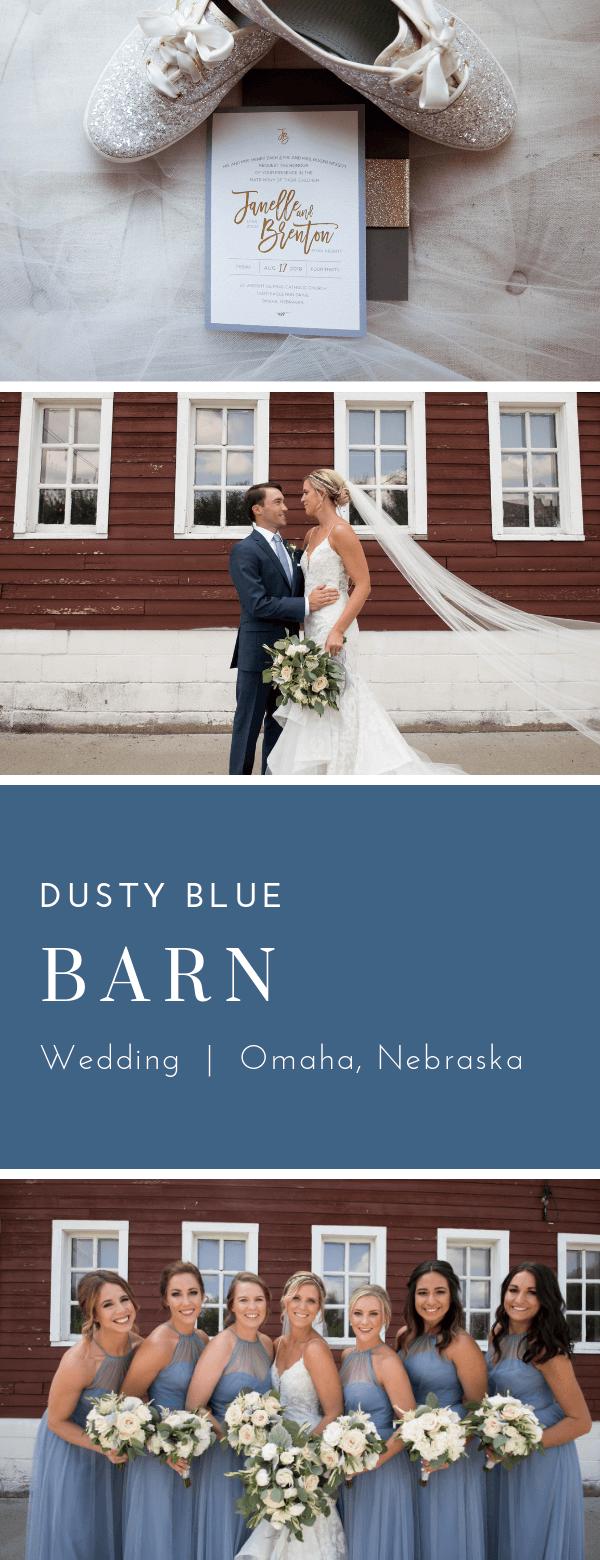 Beautiful Omaha, Nebraska wedding at the Ackerhurst Dairy Farm.  Invitations by Dana Osborne Design