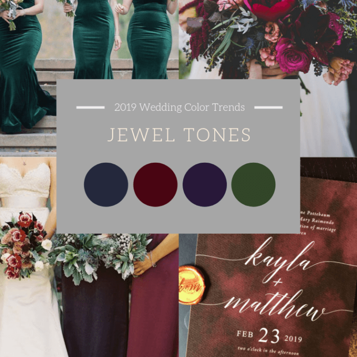Jewel Tone Burgundy Navy Emerald Wedding Tones Color Dana Osborne Design