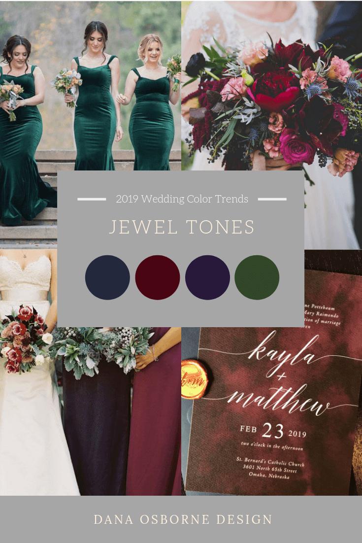 Jewel Tone Burgundy Navy Emerald Wedding Tones Color Dana Osborne Design