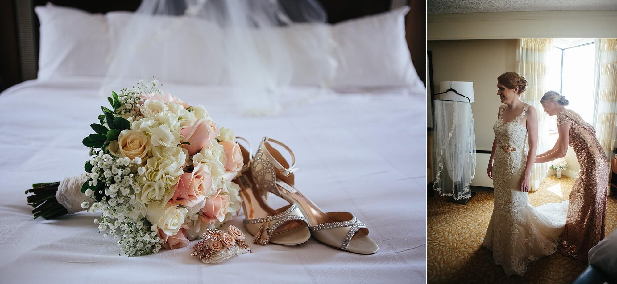 Blush, neutral wedding tones  |  Dana Osborne Design Wedding Invitations