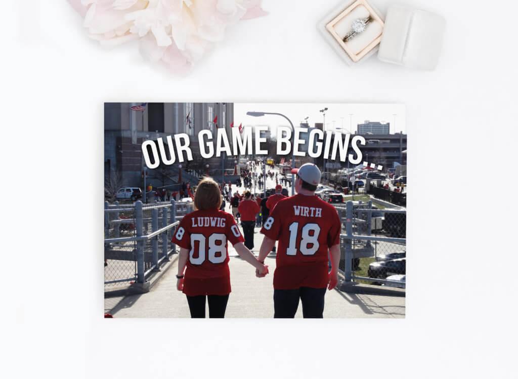 Nebraska Football Save the Date Dana Osborne Design