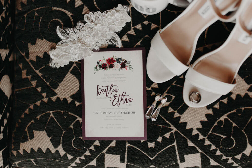 burgundy floral wedding invitations omaha nebraska dana osborne design wedding