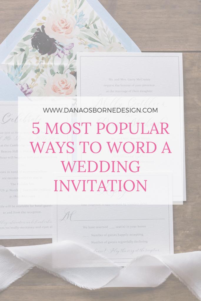 5 Ways to Word Wedding Invitation