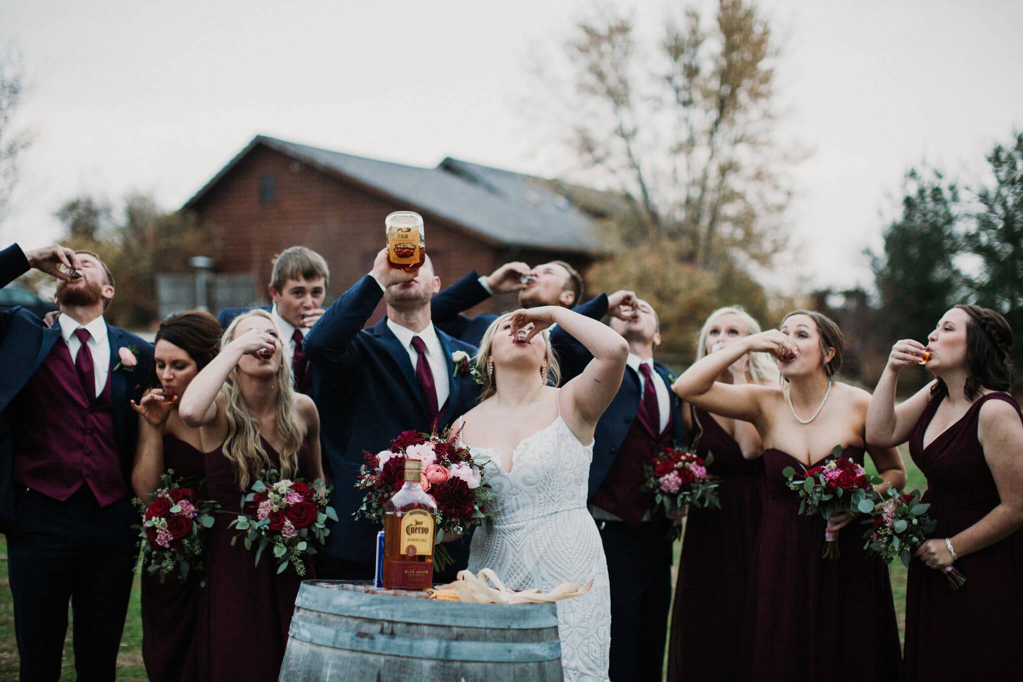 Shots Wedding Party Roca Nebraska Dana Osborne Design