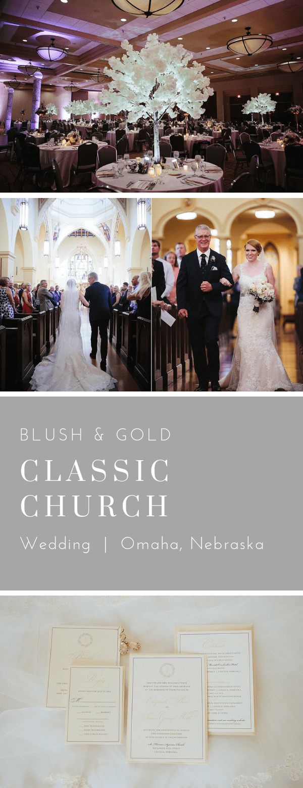 Blush Classic Wedding Lincoln, Nebraska. Invitations by Dana Osborne Design