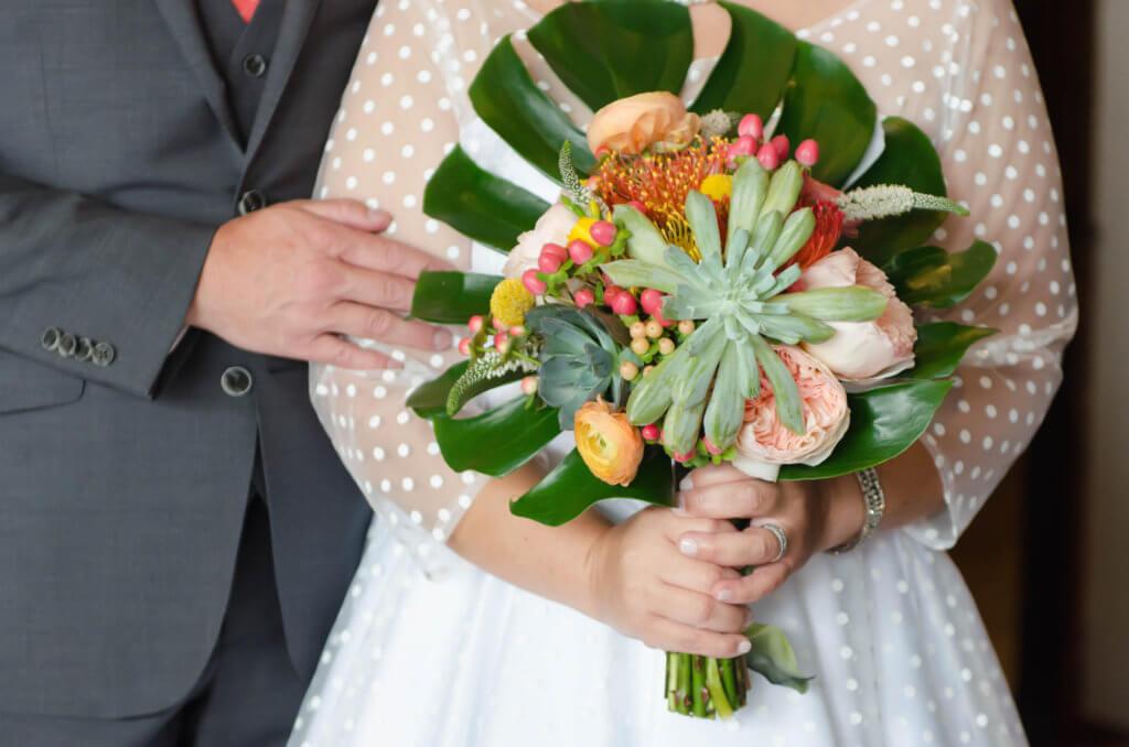 Mid Century Modern Wedding Omaha - Dana Osborne Design Wedding Invitations